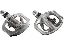 SHIMANO PDA530 SPD Road Pedals - Polished Aluminium.