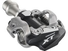 Shimano Deore XT PDM780 MTB SPD Pedals - Two sided mechanism - Silver.