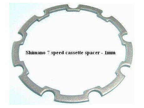 Shimano 11E 0300 Cassette HG Sprocket Spacer 1 mm HG 7 Speed S31. click to zoom image