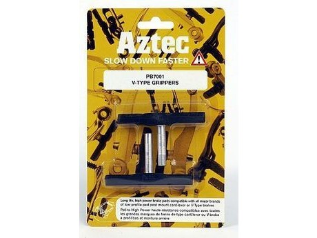 Aztec PB7002 V-Type Grippers Brake Blocks For Aluminium Rims. click to zoom image