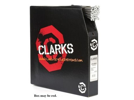 Clark's W6053DB Box of 100 Stainless Steel Pre Stretched Brake Wires with Barrel Nipple click to zoom image